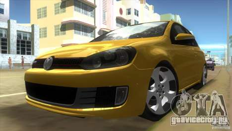 Volkswagen Golf 6 GTI для GTA Vice City вид слева