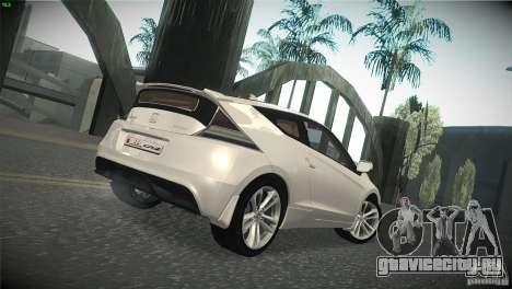 Honda CR-Z 2010 V1.0 для GTA San Andreas вид сзади