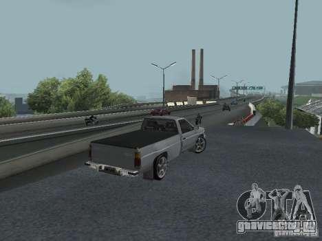 Nissan Pick-up D21 для GTA San Andreas вид сзади