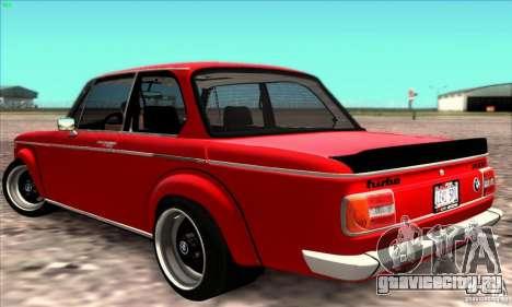 BMW 2002 Turbo для GTA San Andreas вид справа