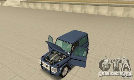 Mercedes-Benz G500 1999 Short [with kangoo v2] для GTA San Andreas вид сзади