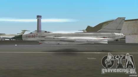 J-10 для GTA Vice City вид сзади слева