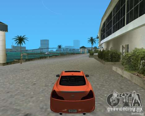 Infinity G37 для GTA Vice City вид слева