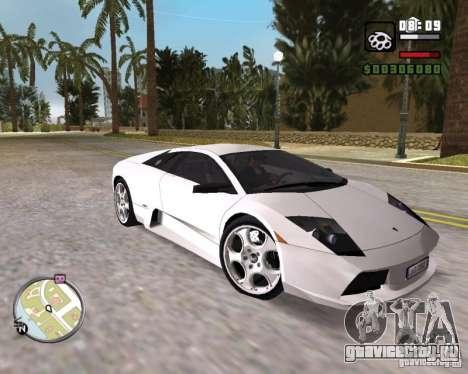 Lamborghini Murcielago V12 6,2L для GTA Vice City вид справа