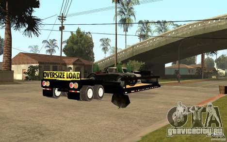 Trailer lowboy transport для GTA San Andreas вид справа
