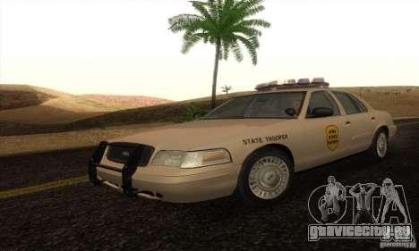 Ford Crown Victoria Iowa Police для GTA San Andreas