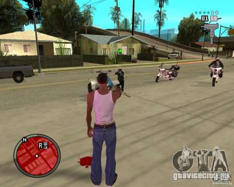 GTA IV HUD для GTA San Andreas третий скриншот