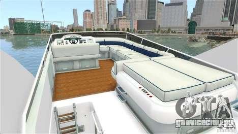 Luxury Yacht для GTA 4 вид справа