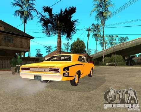 Dodge Coronet Super Bee 70 для GTA San Andreas вид сзади слева