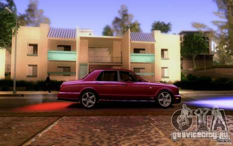 Bentley Arnage для GTA San Andreas вид изнутри