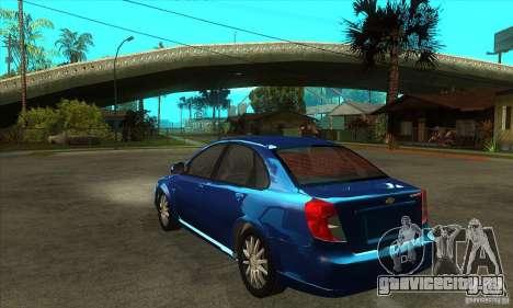 Chevrolet Optra 2011 для GTA San Andreas вид сзади слева