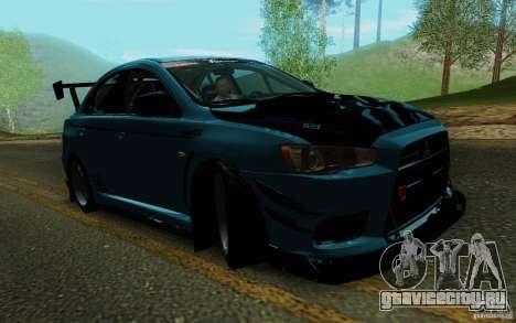 Mitsubishi Lancer Evolution X Tunable для GTA San Andreas вид сбоку