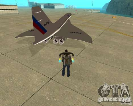 Tupolev TU-144 для GTA San Andreas вид сзади слева