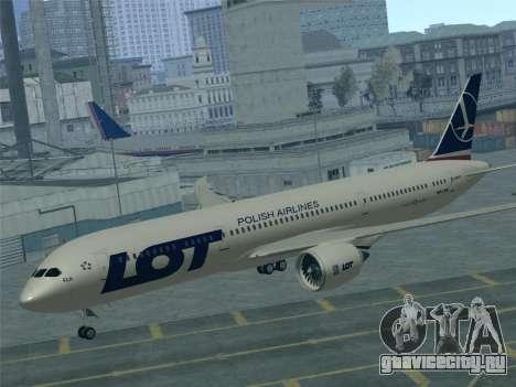 Boeing 787-9 LOT Polish Airlines для GTA San Andreas двигатель