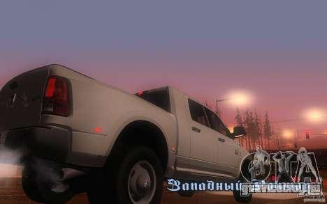Dodge Ram 3500 Laramie 2010 для GTA San Andreas вид справа
