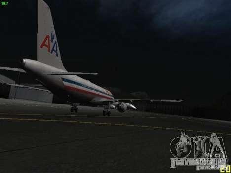 Airbus A320 для GTA San Andreas вид сзади
