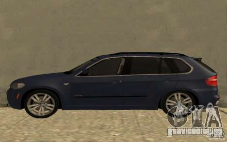 BMW X5 M 2009 для GTA San Andreas вид слева