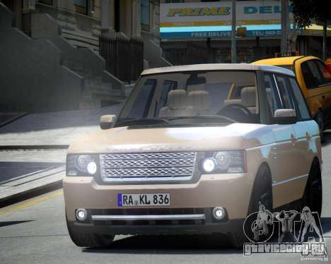 Land Rover SuperСharged для GTA 4 вид слева