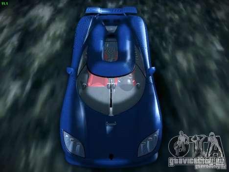 Koenigsegg CCXR Edition для GTA San Andreas вид сзади