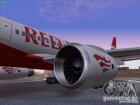 Tupolev Tu-204 Red Wings Airlines для GTA San Andreas вид справа