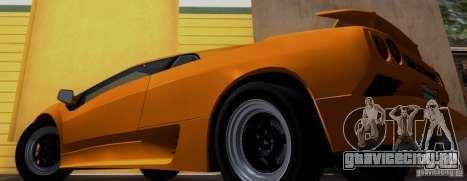Lamborghini Diablo VTTT Black Revel для GTA San Andreas вид сзади слева