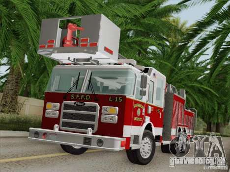 Pierce Aerials Platform. SFFD Ladder 15 для GTA San Andreas салон