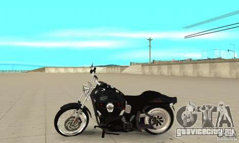 Harley Davidson FXSTBi Night Train для GTA San Andreas вид слева