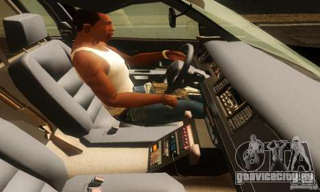 Ford Crown Victoria Montana Police для GTA San Andreas вид сзади слева