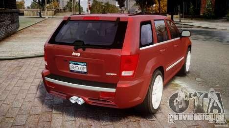 Jeep Grand Cherokee для GTA 4 вид сзади слева