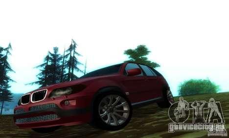 BMW X5 для GTA San Andreas вид сзади