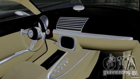 Holden Efijy Concept для GTA 4 вид изнутри