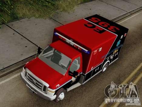 Ford E-350 AMR. Bone County Ambulance для GTA San Andreas вид сзади