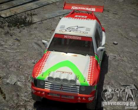 Mitsubishi Pajero Proto Dakar EK86 Винил 2 для GTA 4 вид сбоку