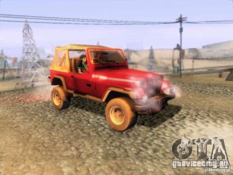 Jeep Wrangler 1994 для GTA San Andreas вид справа