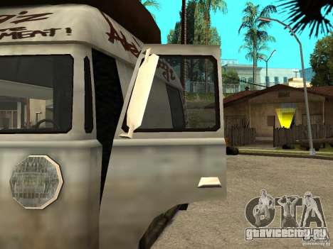 Чистые стекла в Hotdog-е для GTA San Andreas вид слева