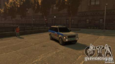 Land Rover Range Rover Police для GTA 4 вид справа