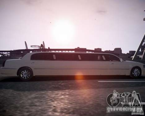Lincoln Town Car Limousine для GTA 4 вид справа