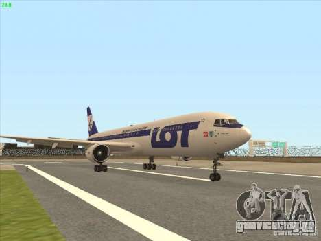 Boeing 767-300 LOT Polish Airlines для GTA San Andreas вид слева