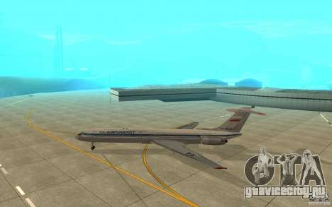 Ил-62М Аэрофлот для GTA San Andreas вид сзади слева