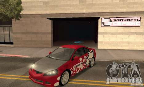 Acura RSX New для GTA San Andreas салон