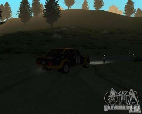 Fiat 131 Rally для GTA San Andreas вид изнутри