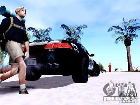 NFS Undercover Cop Car MUS для GTA San Andreas вид сзади слева