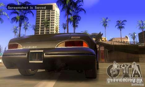 New Banshee [HD] для GTA San Andreas вид сзади