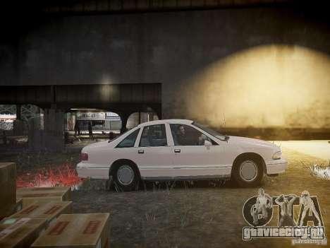 Chevrolet Caprice 1993 Rims 1 для GTA 4 вид изнутри
