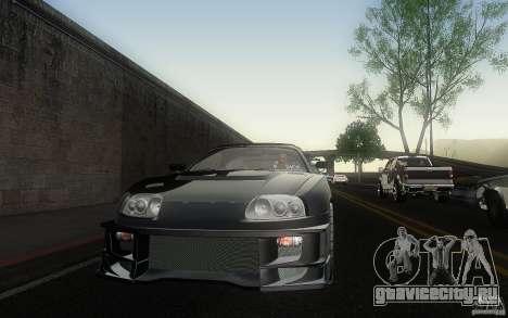 Toyota Supra Chargespeed для GTA San Andreas вид сбоку