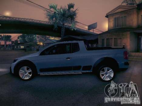 Volkswagen Saveiro Cross для GTA San Andreas вид слева