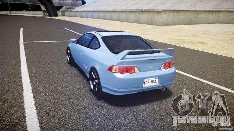 Acura RSX TypeS v1.0 Volk TE37 для GTA 4 вид сзади слева