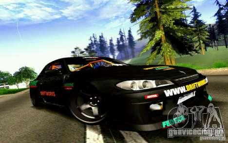 Nissan Silvia S15 Drift Works для GTA San Andreas вид сзади слева