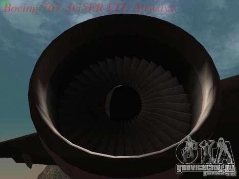 Boeing 767-3G5ER LTU Airways для GTA San Andreas вид изнутри