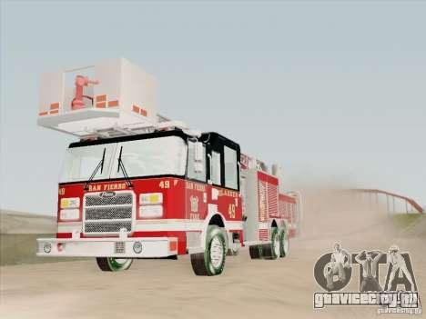 Pierce Rear Mount SFFD Ladder 49 для GTA San Andreas салон